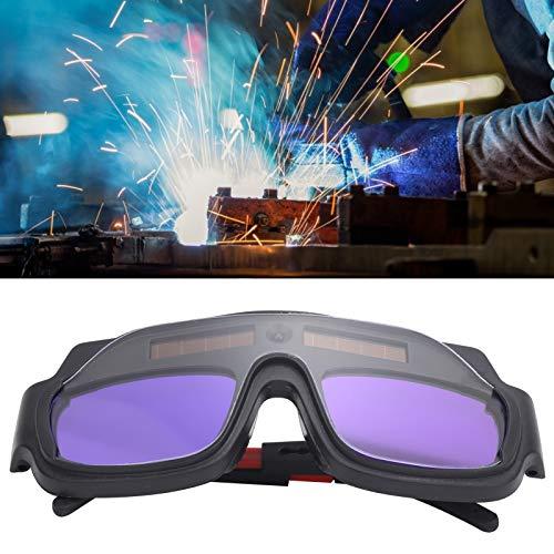 Gafas protectoras para soldador Protección ocular para soldar Gafas para soldador Gafas de soldadura con oscurecimiento automático solar negro