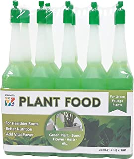 BFA Garden Fertilizer - 10 Bottles of Flower Plants Lucky Bamboo Food Liquid-Type for Green Foliage Plants (35ml - 10 ampoules)