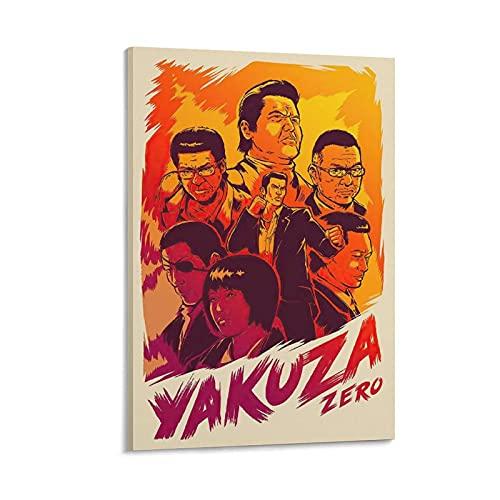 BUKPO Yakuza Zero Video Game Gamer Room Gaming Poster Gifts (1) Lienzo Arte Póster y Pared Imagen Impresión Moderna Familia Dormitorio Póster 20x30 pulgadas (50x75 cm)