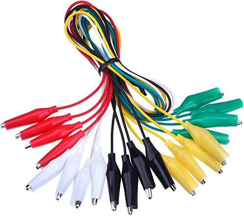 MEANTOBE Juego de 30 cables de prueba con clips de cocodrilo soldados...
