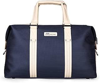 Forlenza Weekend Genuine Leather Luxury Mens Travel Duffel Bag Fits 17
