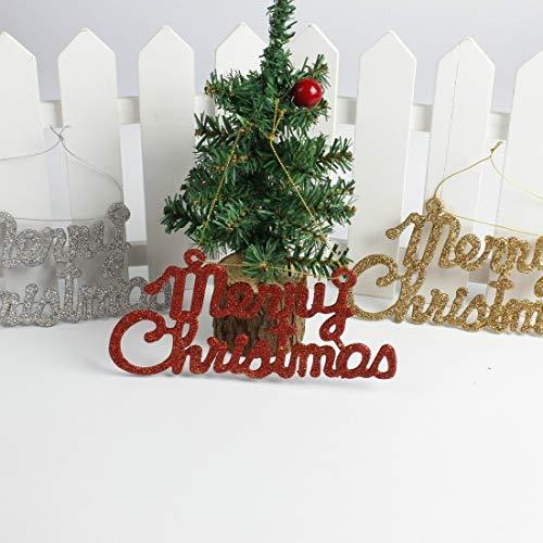 GJKOTPERLTY 5 Party Packs Pendiente del árbol de Navidad Decoración de Navidad Decoración Cartas de Navidad -Z