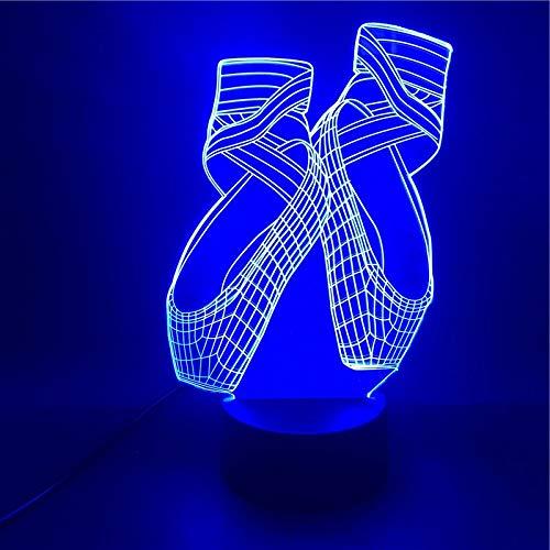 Tanzen Schuhe schöne Geschenke für Mädchen helle Basis heißen Verkauf LED Nachtlichter USB-Dekoration Kindertag