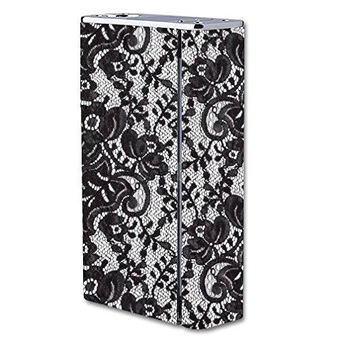 Decal Sticker Skin WRAP Black Lace Print for Smok X Cube II 160W TC