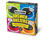 Learning Resources Recordable Answer Buzzers, Personalized Sound Buzzers, Talking Button, Set of 4, Easter Gits for Kids, Ages 3+