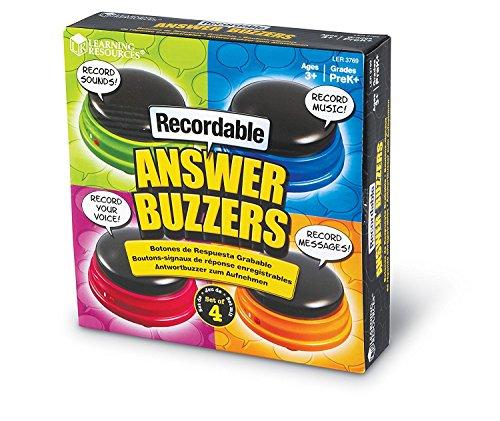 Learning Resources Buzzer mit Aufnahmefunktion (4 Stück),