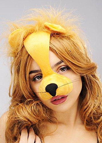 Lion Masque Bandeau sur serre-tête avec oreilles