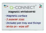 Q Connect Magnetic Whiteboard Drywipe Notice Board 900x600mm