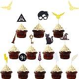Juego de 15 decoraciones inspiradas en el mago de JeVenis Mago, decoración para tartas de mago con temática de mago para decoraciones de fiesta de cumpleaños