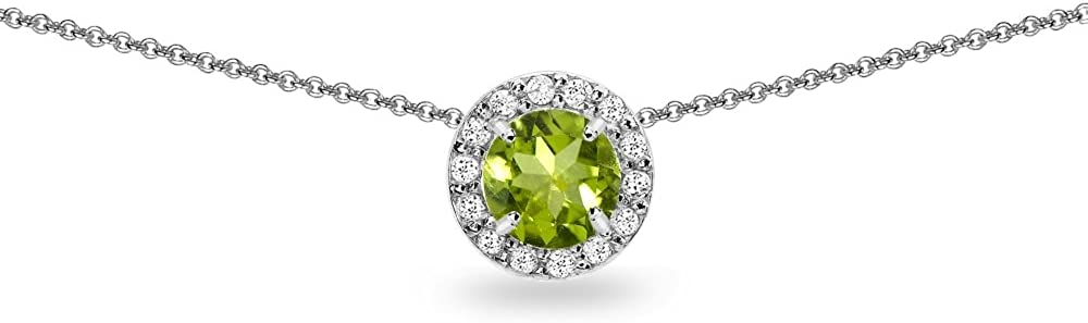 security Sterling Silver Genuine or Synthetic Topaz Gemstone and Ro White Finally resale start