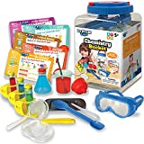 Dr. STEM Toys - Kids First Chemistry Set Science Kit - 28 Pieces Includes Ten Experiments, Goggles, Test Tubes, All in a Storage Bucket
