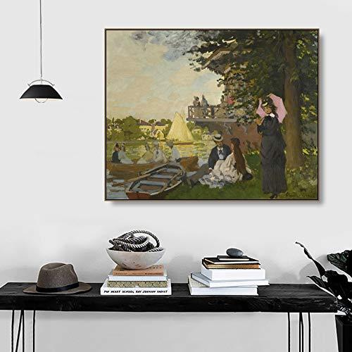 xiaoshicun Promi Architektur PosterZaan 'Gartenhaus von Met Anime HD Print Film Wandkunst Bild Home Decor70x70cm ohne Rahmen