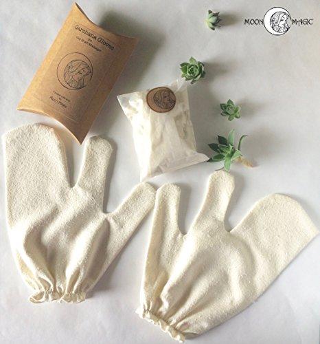 Garshana Gloves, raw silk massage gloves, ayurvedic massage