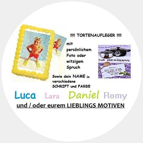 Tortenaufleger Tortenfoto bedruckt mit eigenem Motiv, Foto oder Text rund ca. 20 cm *NEU*OVP*
