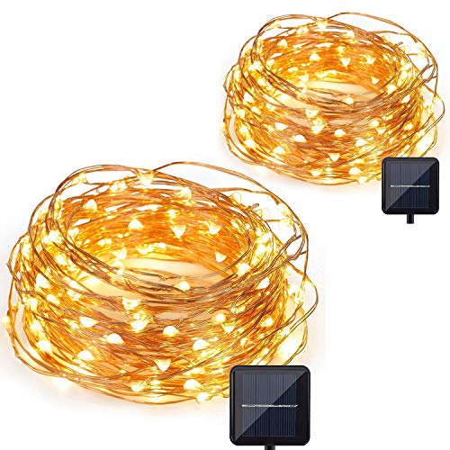 Copper Wire Lights, CMYK Led Copper Wire Decorative Lights, 2 Pack 10M/33FT 120 LEDs Waterproof Outdoor String Lights For Home, Patio, Yard, Garden, Party Decoration