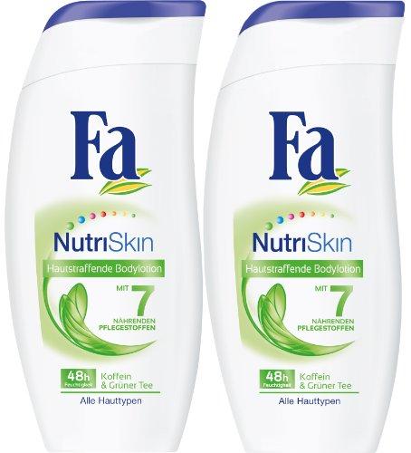 Fa Bodylotion NutriSkin Hautstraffende Pflege Bodymilk, 2er Pack (2 x 250 g)