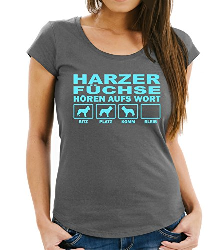 Siviwonder HARZER Fuchs Altdeutscher Hütehund Harz Füchse - Hören AUFS Wort Women Girlie T-Shirt...