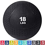 Medicine Exercise Ball with Dual Texture for Superior Grip by Day 1 Fitness - 18 Pounds - Fitness...