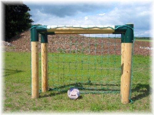 Loggyland 9180 - Fußballtor Bolzplatztor Holz extra massiv, 1.60 x 1.21m
