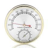 Higrómetro Termómetro Sauna, Haofy Medidores de Temperatura y Humedad, Accesorio para Sala de Sauna para Humidores Invernadero Jardín Bodega Armario
