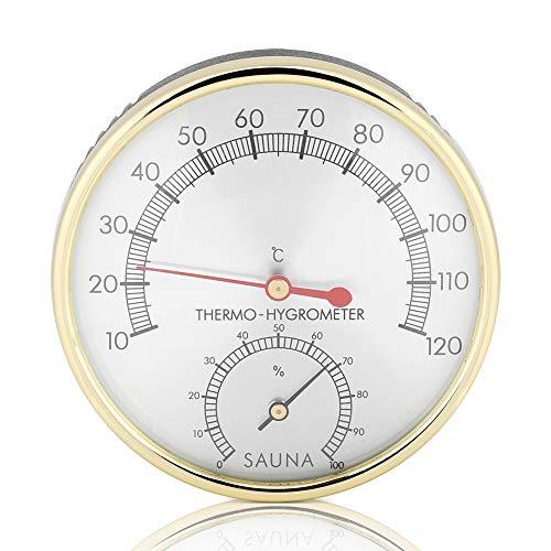 Sauna Thermometer Hygrometer, Haofy Temperatur Luftfeuchtigkeitsmesser, Klimamesser Luftfeuchtigkeit Saunazubehör für Humidore Gewächshaus Garten Keller, Metall