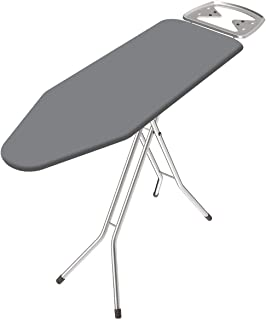 Sasimo International Quality Ironing Board/Iron Table Stand with Press Holder, Foldable & Height Adjustable/Ironing Board ...