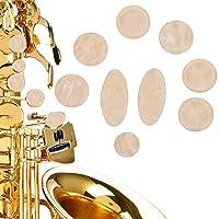 9ピースミニサックスボタンアクリルサックスインレイクリーミーイエローサックスキーボタン楽器アクセサリー