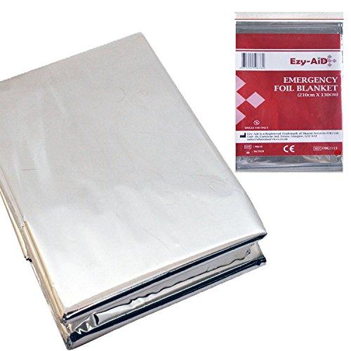 Lot de 10 couvertures de survie en aluminium de qualité supérieure, réfléchissantes et thermiques, premiers secours d'urgence.