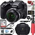 Nikon COOLPIX B500 16MP 40x Optical Zoom Digital Camera w/Wi-Fi (Certified Refurbished) + 16GB SDHC Accessory Bundle
