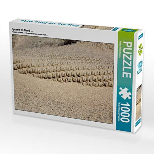 CALVENDO Puzzle Spuren im Sand ... 1000 Teile Lege-Größe 64 x 48 cm Foto-Puzzle Bild von Maria Reichenauer Maria