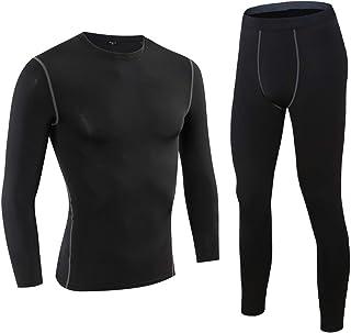 Men's Thermal Underwear Set Microfiber Fleece Lined Winter Base Layer Long John Set