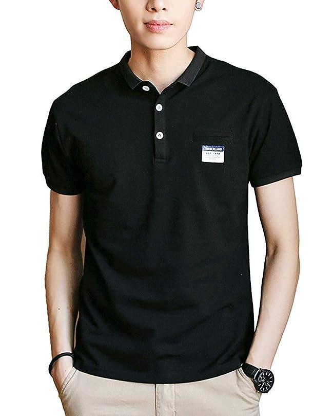 ミュウミュウ証明書マージ[ Smaids x Smile (スマイズ スマイル) ]ポロシャツ 半袖 T ゴルフウェア シンプル 無地 カジュアル トップス メンズ