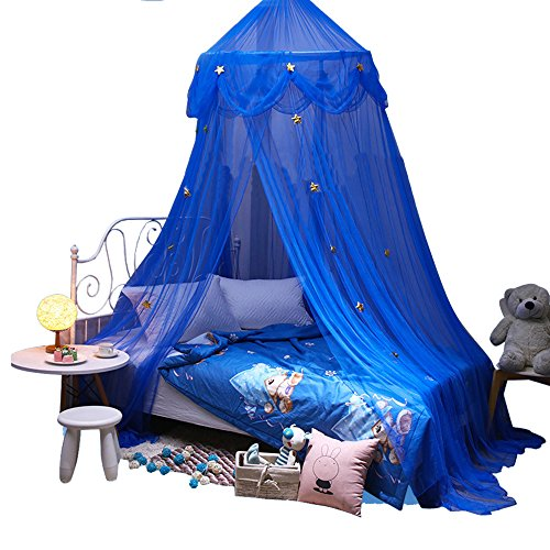 Yarn Mosquito Net Bed Canopy Dome Prince & Princess Star Play Tent & Game House for Boys, Girls -Daughters and Granddaughters
