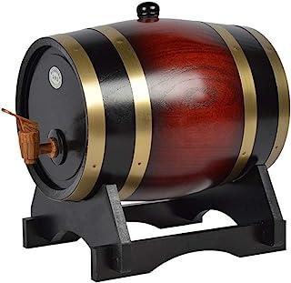 ZHhome Fût de Chêne Tonneau À Vin, Tonneau en Chêne, Verre À Vin, Casier À Vin Ovale, Tonneau À Vin en Bois Massif, 3L5L10...