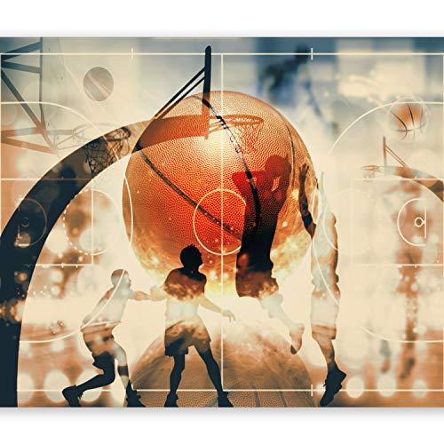 murando Fototapete Basketball 250x175 cm Vlies Tapeten Wandtapete XXL Moderne Wanddeko Design Wand Dekoration Wohnzimmer Schlafzimmer Büro Flur Sport i-C-0001-a-d
