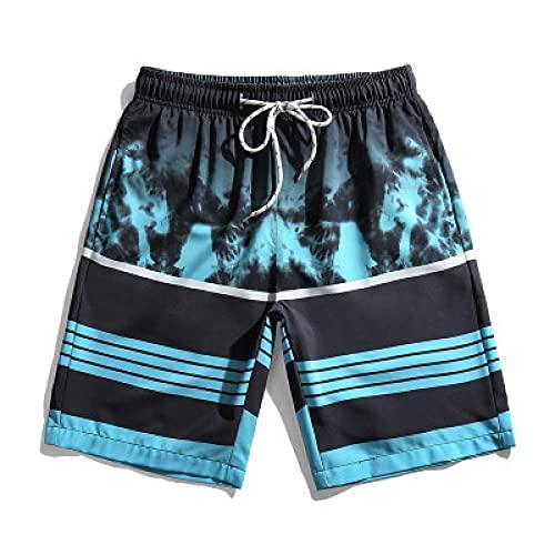 ShSnnwrl Pantalones Cortos de Hombre Pantalones Cortos de Playa Cortos para Hombre Bermudas Pantalones Cortos de Tabla Traje de baño de Ver