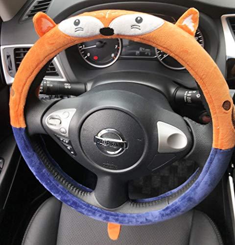 Follicomfy Cartoon Automative Steering Wheel Cover General 15', Anti Slip, Fox