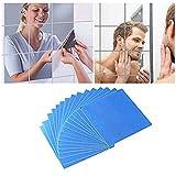 16 pegatinas de pared de espejo autoadhesivas, de plástico, para azulejos de...