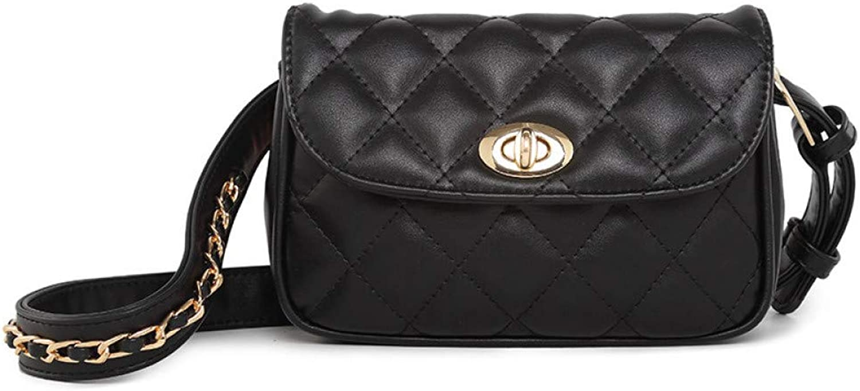 OKMPL Luxury Pu Leather Women Waist Bags Fashion Diamond Lattice Waist Packs Brand Women Shoulder Bags Trendy Design Chain Bags