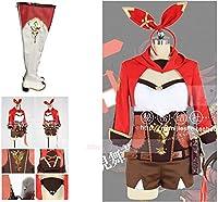 原神(げんしん) 西風騎士団 アンバーコスプレ 衣装 靴付き コスチューム 仮装 ステージ服 舞台 ハロウィン クリスマス