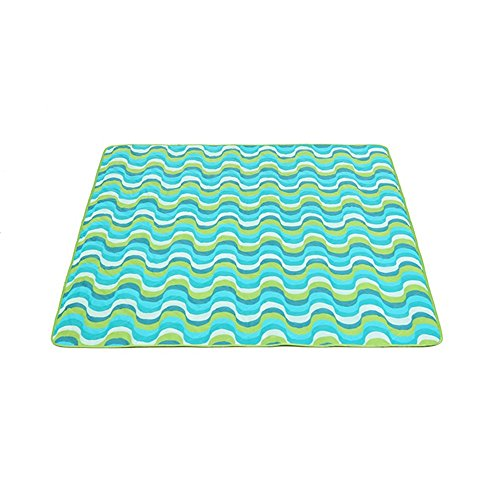 Coco Pique-Nique Couverture Grande Machine Lavable Tapis Extérieure Imperméable Oxford Tissu Camping Tente Coussin 150 * 120cm (Couleur : Blue Waves)