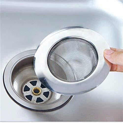 "MTR Stainless Steel Sink Strainer Kitchen Drain Basin Basket Filter Stopper Sink Drainer (Jali) 4"" inch (10cm) (Gas Lighter) and Water Saver adepter"
