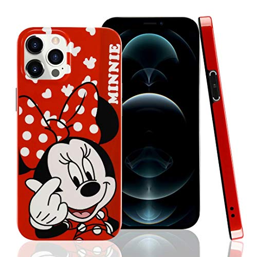 DVR 4000 Compatible with iPhone 12 Pro Max Minnie Mouse Bow Case 3D Cute Cartoon IMD Ultra Thin Slim Full-Body Soft Protective TPU Case Cover for iPhone 12 Pro Max 6.7 inch,NO5