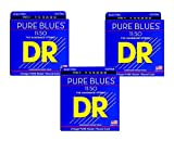 DR Strings PHR-11 Heavy PURE BLUES Pure Nickel Electric Guitar Strings 3-Pack