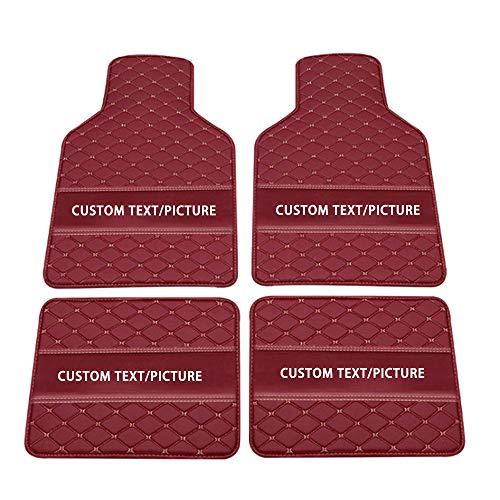 Maidao Alfombra del Piso del Coche para 99% Modelo de Coche Alfombra del Piso Auto Diseño Personalizado Logo,Antideslizante Impermeable Vino Rojo