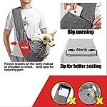 aofook Adjustable Dog Pet Sling Waterproof Carrier Bag with Soft Shoulder Pad Zippered Pocket for Outdoor Travel (Grey, Adjustment) 11