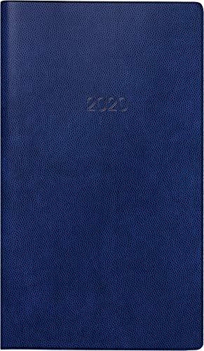 BRUNNEN 107462830 Taschen-/Faltkalender Modell 746 (2 Seiten = 1 Monat, 8,7 x 15,3 cm, Kunststoff-Einband, Kalendarium 2020) dunkelblau