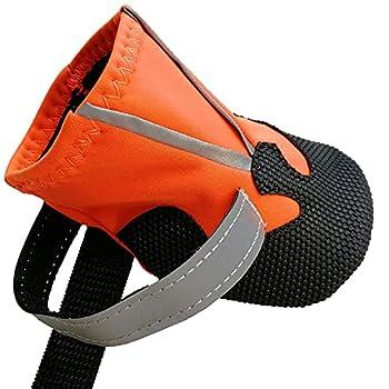 Lurowo Bottes de Protection pour Chien, 4pcs Chaussures de Chien Antidérapant avec Sangles Réfléchissantes Sécuritaires, Chausson pour Petits à Moyens Chiens (XL)