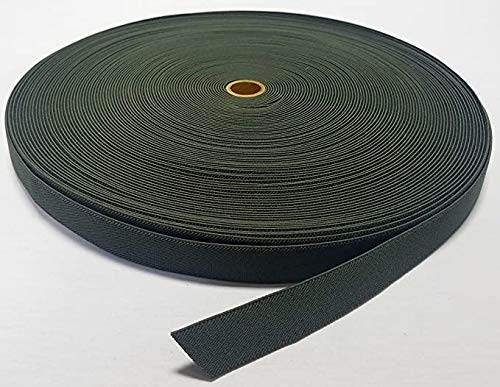 50 Yards - MIL SPEC 1' Elastic Webbing/MOLLE Webbing - Olive (OD) Green