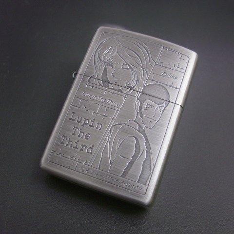 zippo ルパン三世 ルパン&不二子 銀古美仕上げ 2000年製造 ジッポー ライター